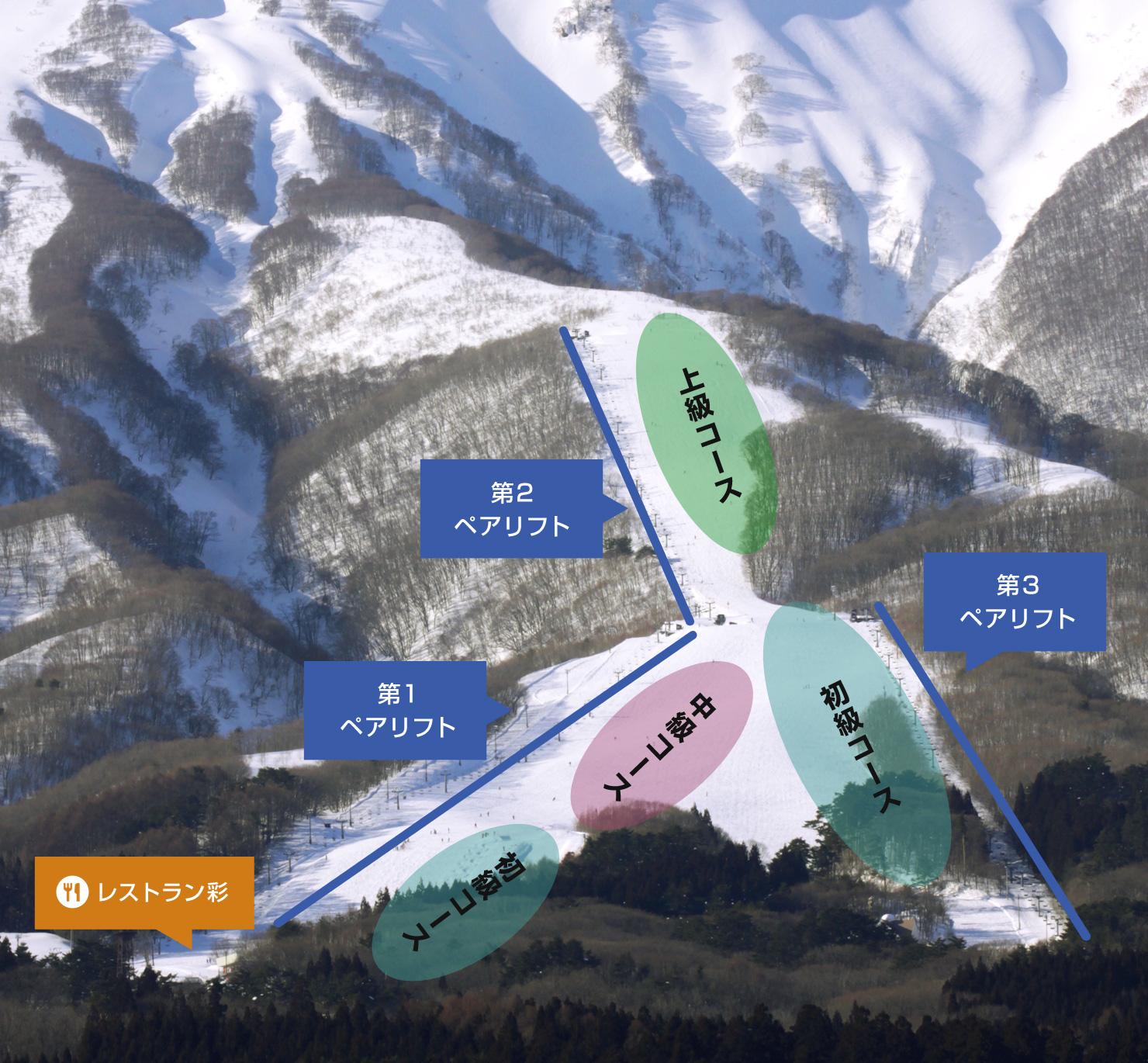 岩木山百沢スキー場 コース紹介
