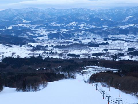 岩木山百沢スキー場 第一ペアリフト周辺