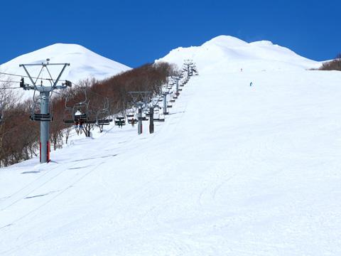 百沢スキー場のゲレンデ(岩木山)